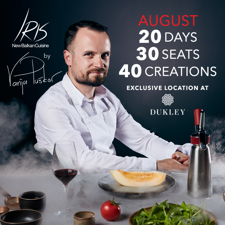 "The innovation of Balkan Cuisine: ""Iris"" at Dukley by Vanja Puškar​"